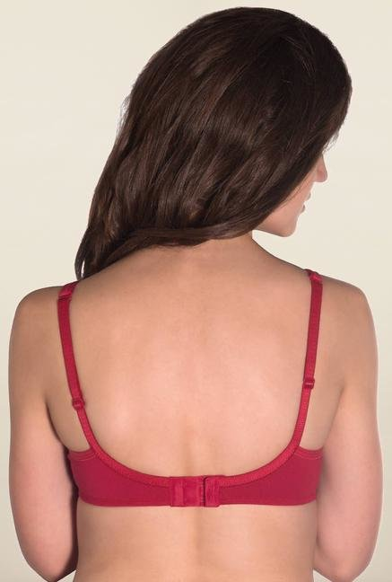 Amante Red Underwired Non Padded Bra