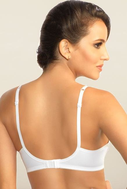 Amante White Cotton Padded Bra