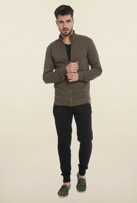 Jack & Jones Olive Solid Sweatshirt