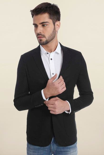 Jack & Jones Black Linen Blazer