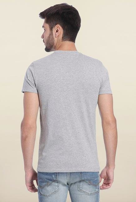 Jack & Jones Light Grey Crew Neck T Shirt