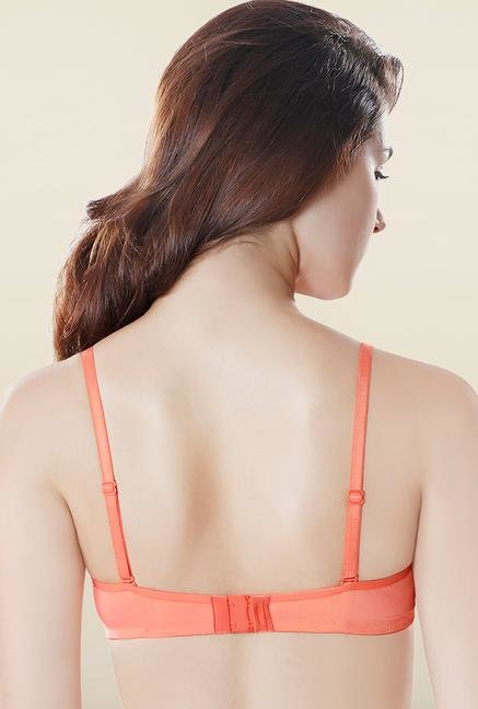 Amante Orange Reversible Printed Padded Bra
