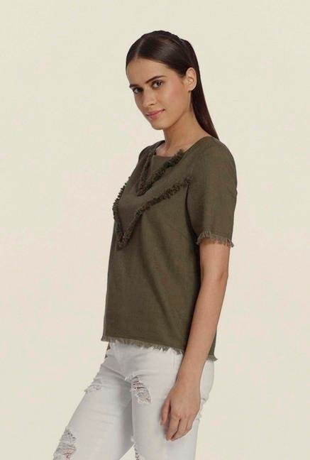 Vero Moda Ivy Green Tribal Top