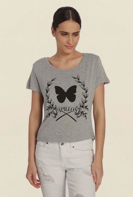 Vero Moda Light Grey Printed Top