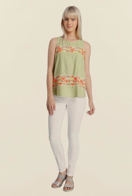 Vero Moda Tan Embroidered Top