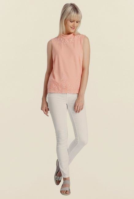 Vero Moda Pink Embroidered Top