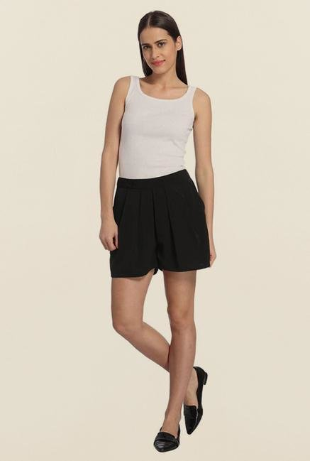 Vero Moda Black Solid Shorts