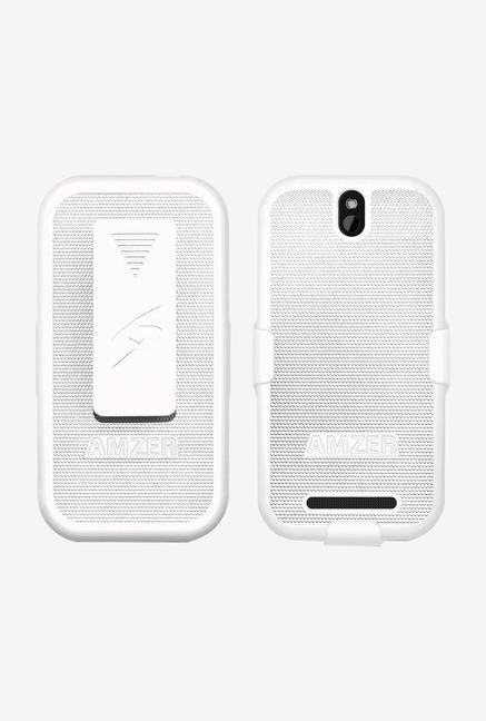 Amzer Shellster Shell Case White for HTC One SV