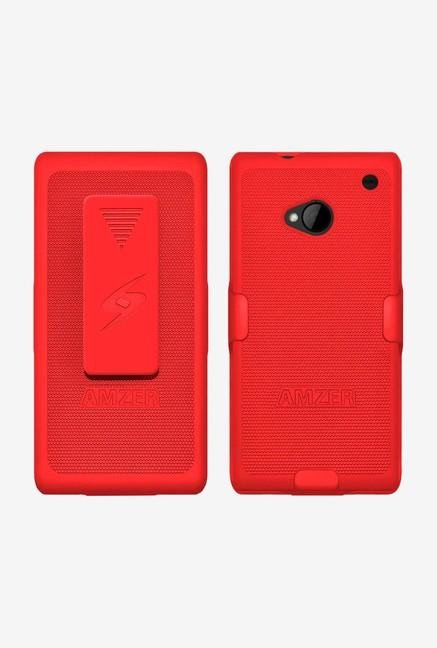 Amzer Shellster Shell Case Red for HTC One M7