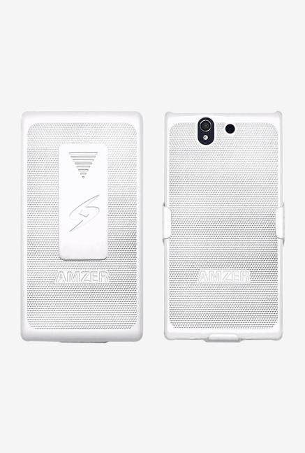Amzer Shellster Shell Case White for Xperia Z