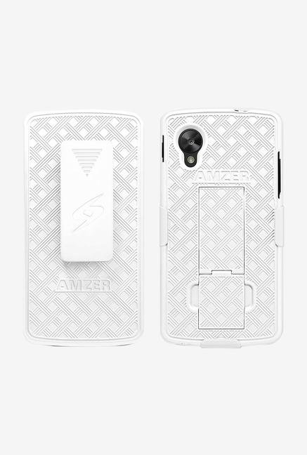 Amzer Shellster Case with Kickstand White for Nexus 5