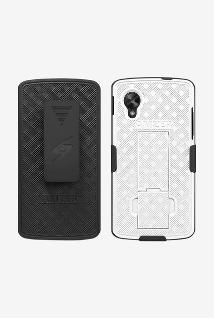 Amzer Shellster Case with Kickstand Black/White for Nexus 5