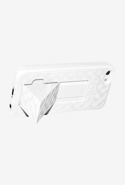 Amzer Shellster Case with Kickstand White for iPhone 5