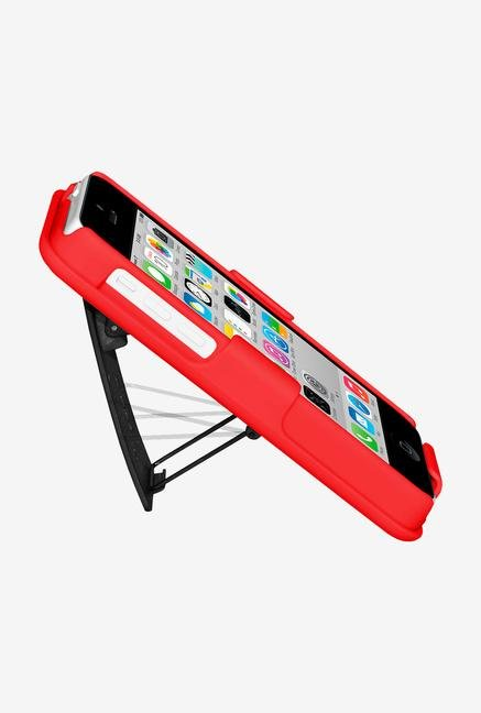 Amzer Shellster Case with Kickstand Red for iPhone 5