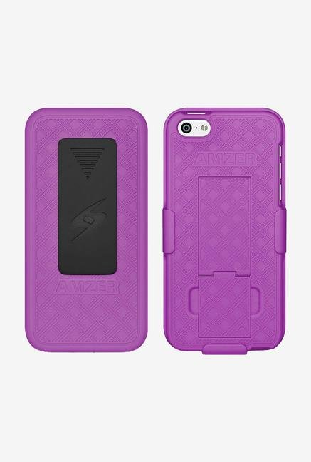 Amzer Shellster Case with Kickstand Purple for iPhone 5