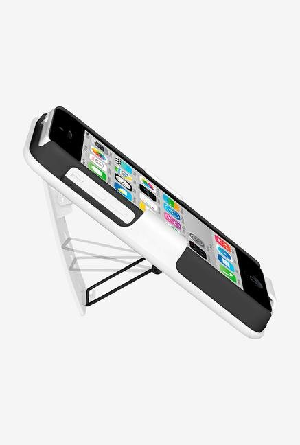 Amzer Shellster Case with Kickstand Black/White for iPhone 5