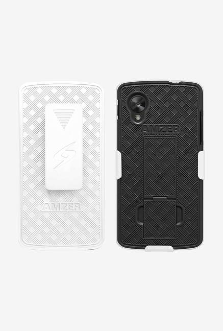 Amzer Shellster Case with Kickstand White/Black for Nexus 5