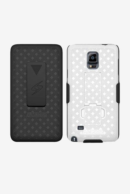 Amzer Shellster Case with Kickstand Black/White for Note 4
