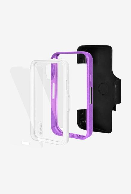 Amzer CRUSTA AMZ300053 Case with Tempered Glass and Holster