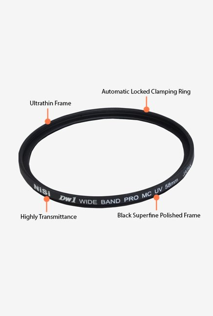 Nisi UV 58 Lens Filter Black
