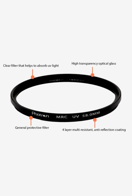 Photron MRC UV 58 mm Lens Filter Black