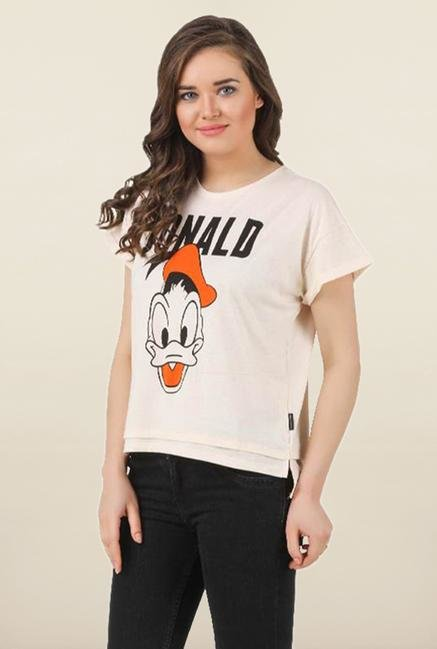 Mickey & Friends Neon Neps Crew Neck Top