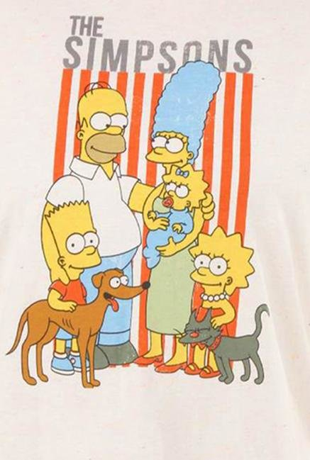 The Simpsons Neon Neps Crew Neck Top