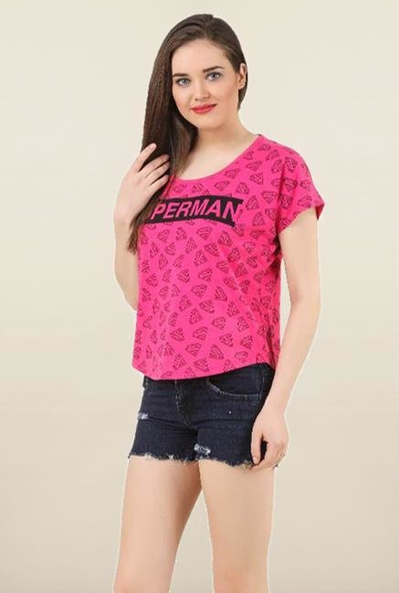Supergirl Pink Printed Top