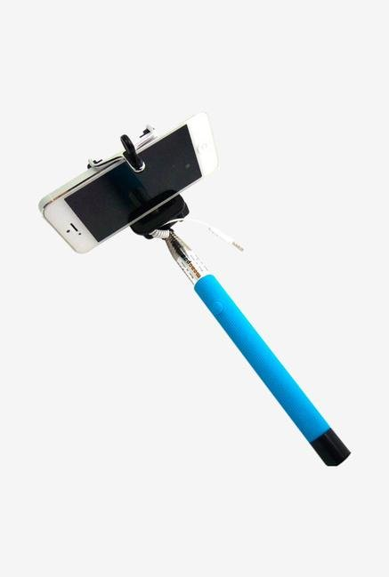 Callmate SSACSB Selfie Stick with Aux Cable Sky Blue