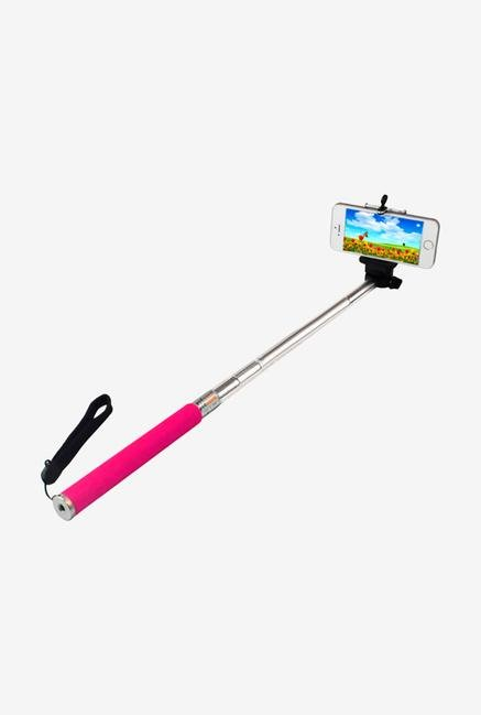 Callmate SSACP Selfie Stick with Aux Cable Pink