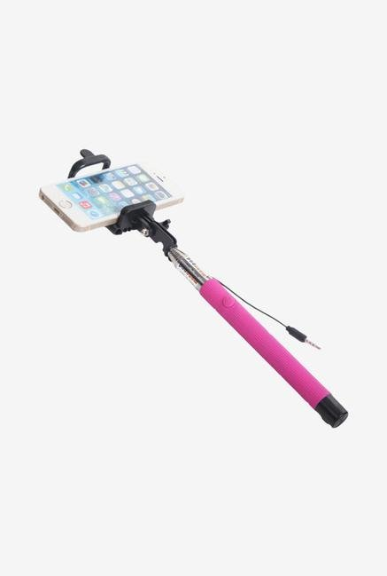 Callmate FSSAUXCPK Selfie Stick with Aux Cable Pink