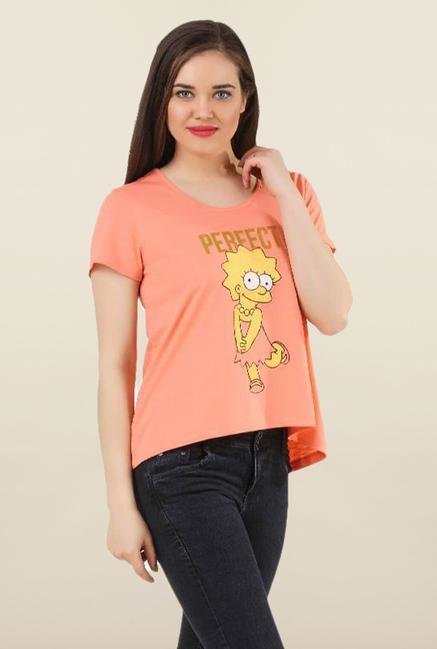 The Simpsons Coral Cotton Top
