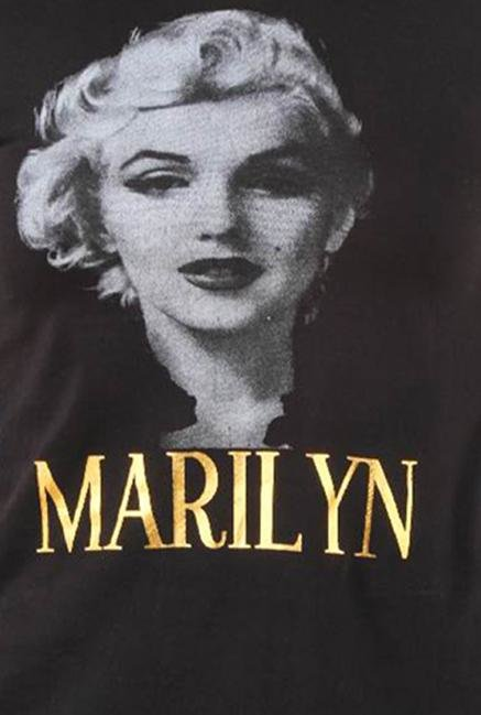 Marilyn Monroe Black Cotton Top