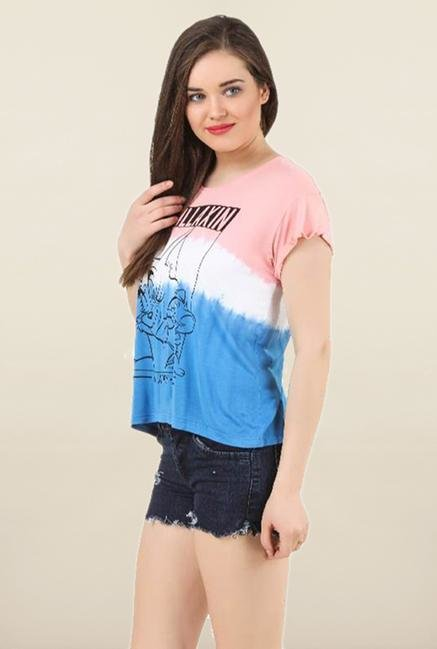 Tom & Jerry Multicolor Tie Dye Top