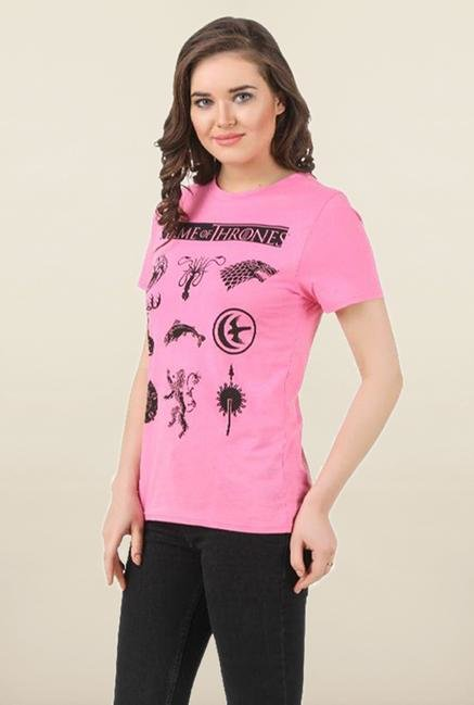 Game of Thrones Pink Printed Top