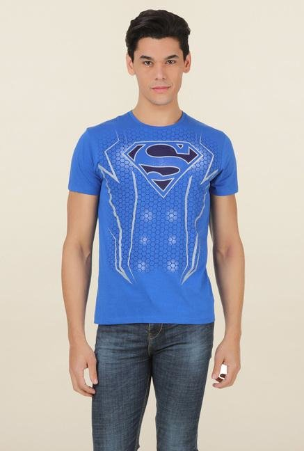 Superman Royal Blue Crew Neck T Shirt