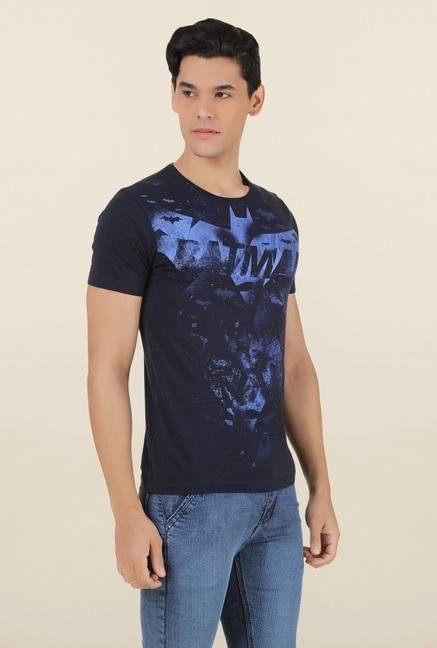 Batman Dark Navy Printed T Shirt