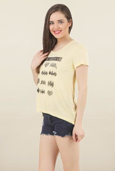 Batgirl Yellow Printed Top