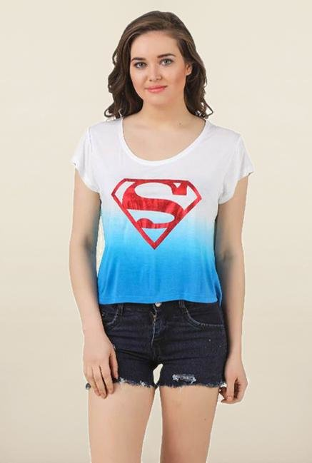 Supergirl White Ombre Top
