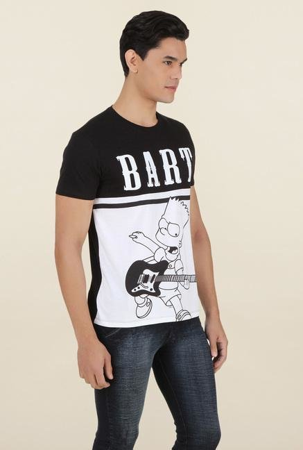 The Simpsons Black Printed T Shirt