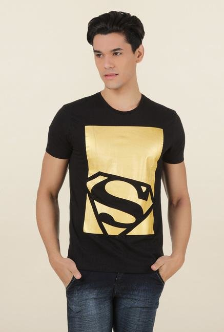 Superman Black Crew Neck T Shirt