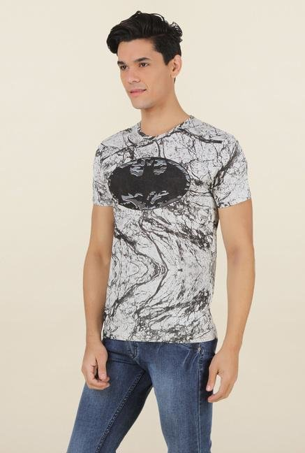 Batman Light Grey Printed T Shirt