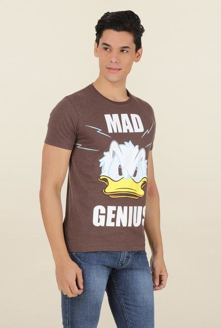 Mickey & Friends Brown Crew Neck T Shirt