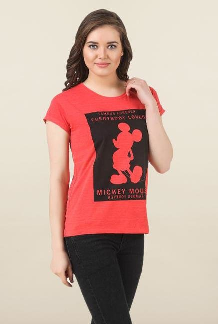 Mickey & Friends Red Printed Top