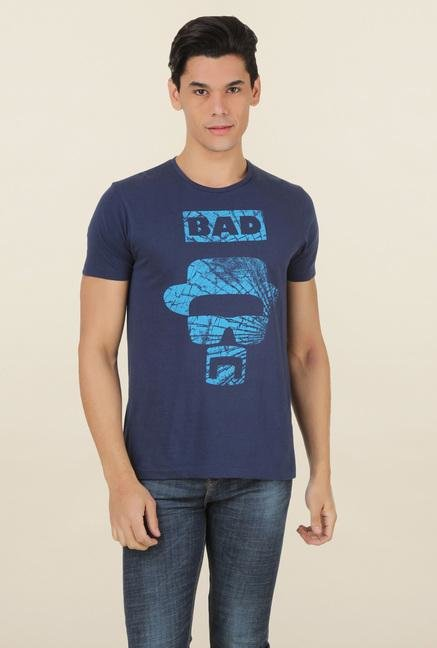 Breaking Bad Navy Printed T Shirt