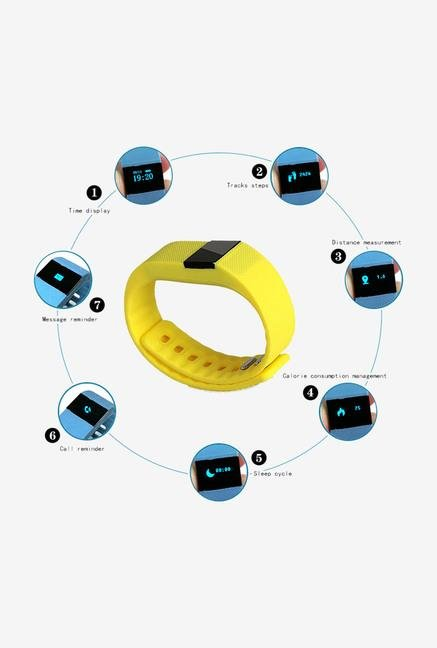 Callmate Fitbit Wireless Activity Smart Bracelet Yellow