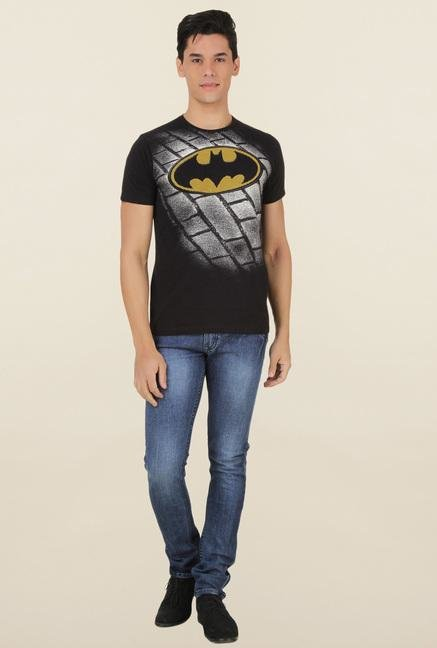 Batman Black Printed T Shirt