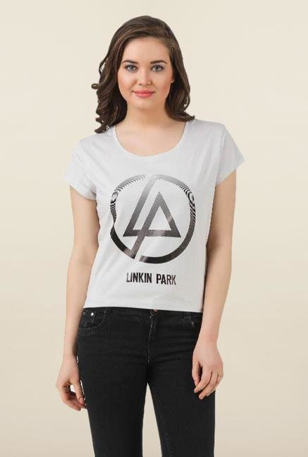 Linkin Park Off White Cotton Top