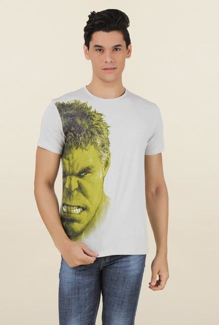 Hulk Light Grey Cotton T Shirt