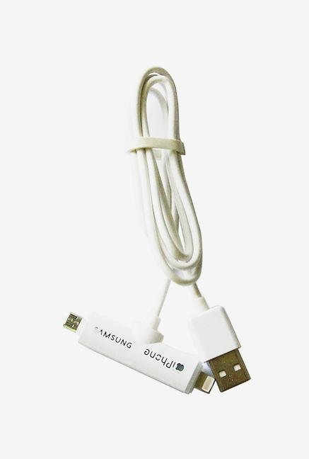 Callmate 2 in 1 Data & Charging Lighting Cable White